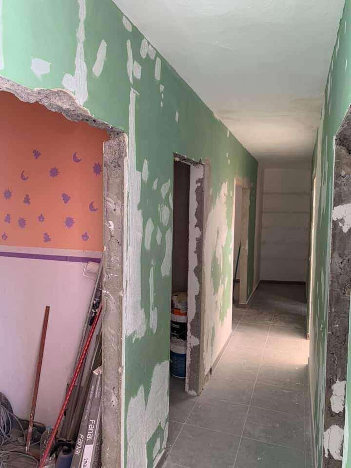 reforma de paredes interiores antes pintura adrian vieira